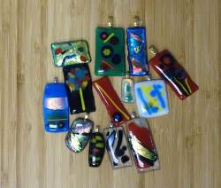 Glass fused pendants