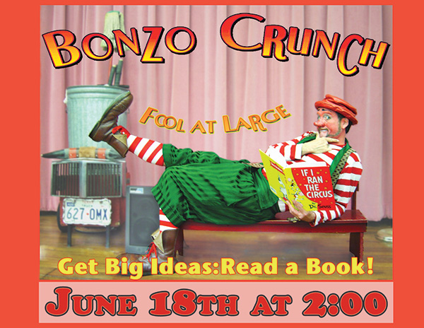 Bonzo Crunch show June 18 at 2 pm