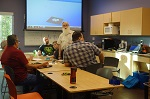 Ron teaching 3d printing