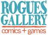 Rogues gallery comic shop logo
