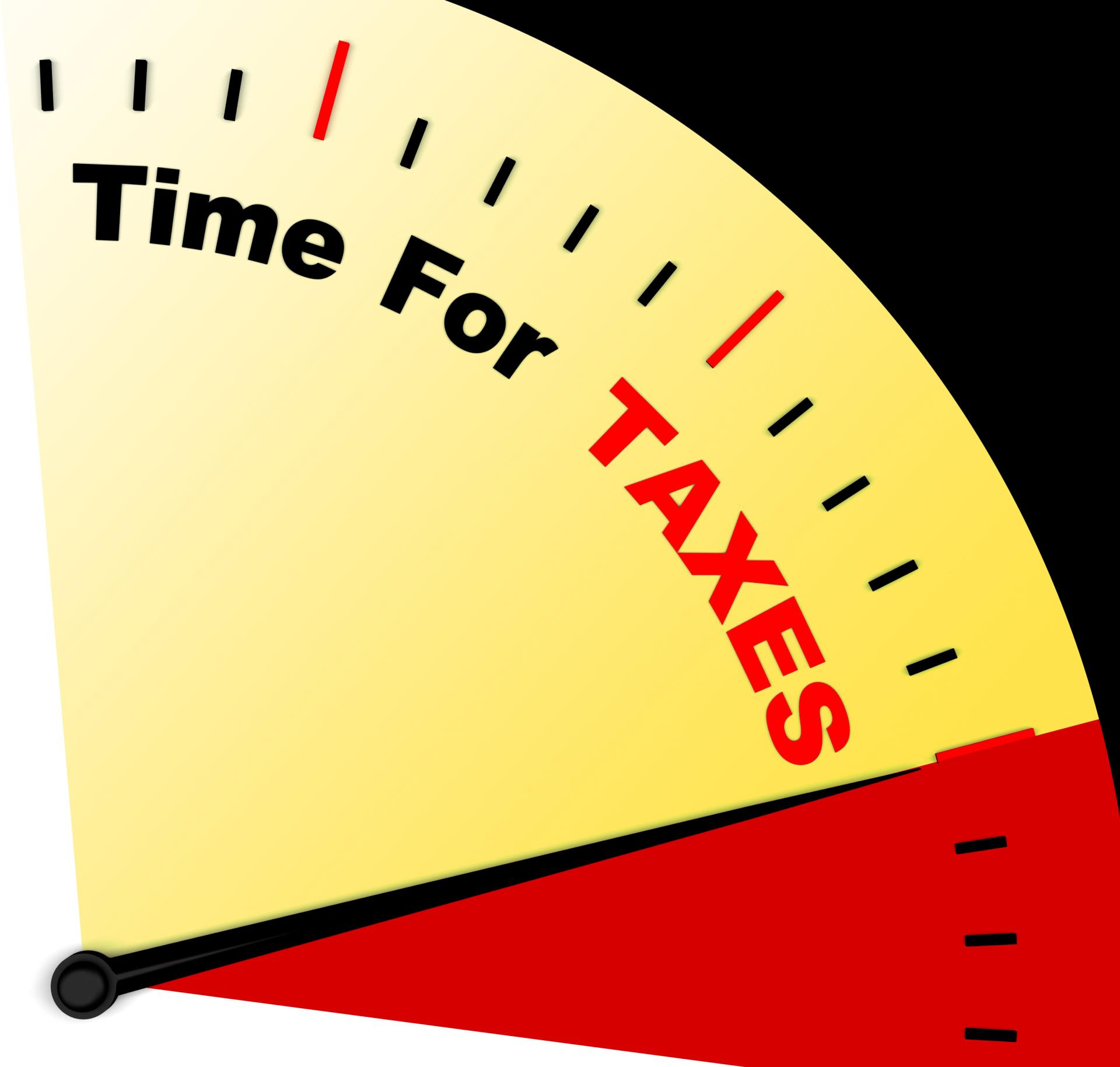 Time for taxes icon