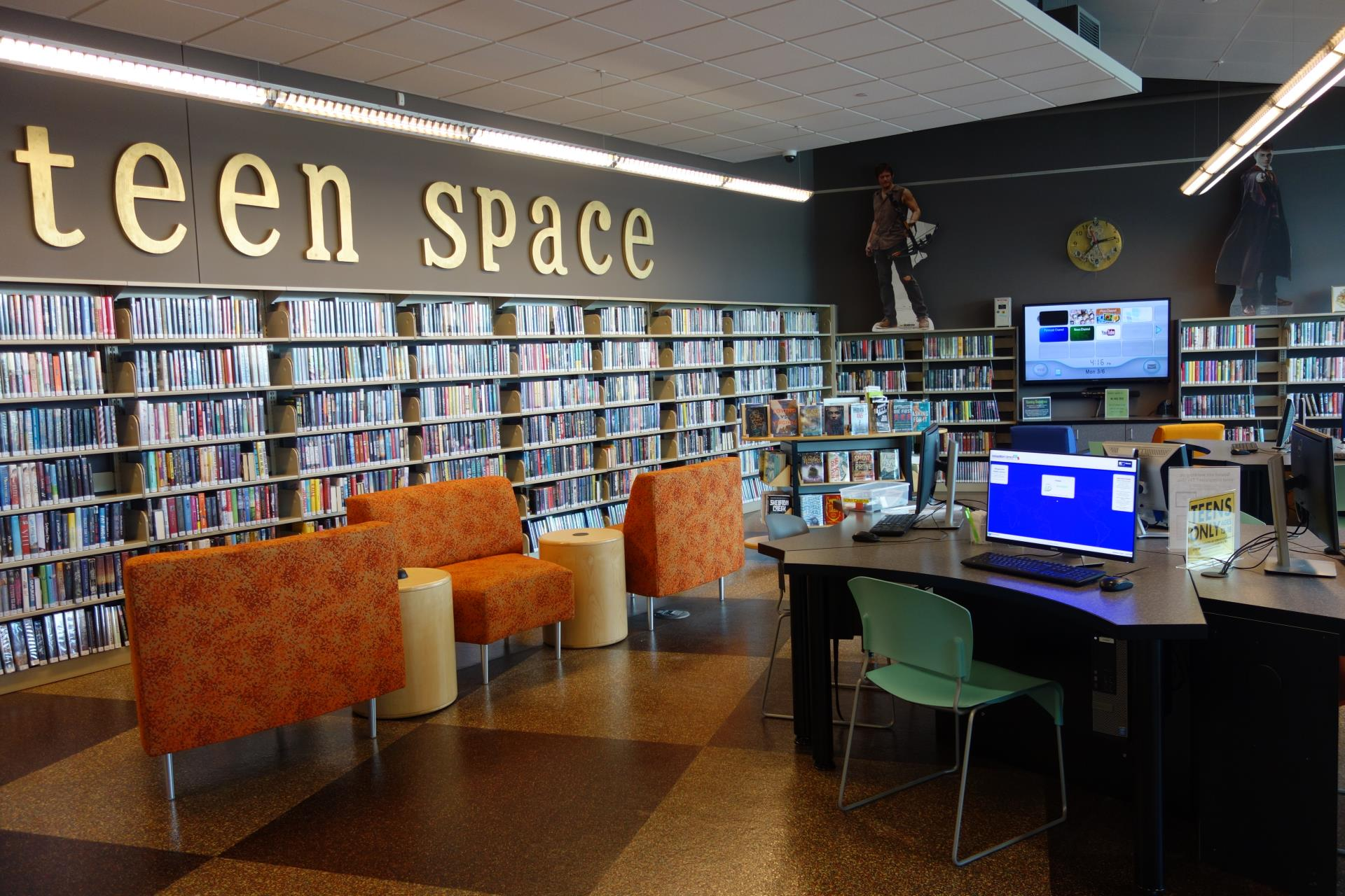 Teen Space room