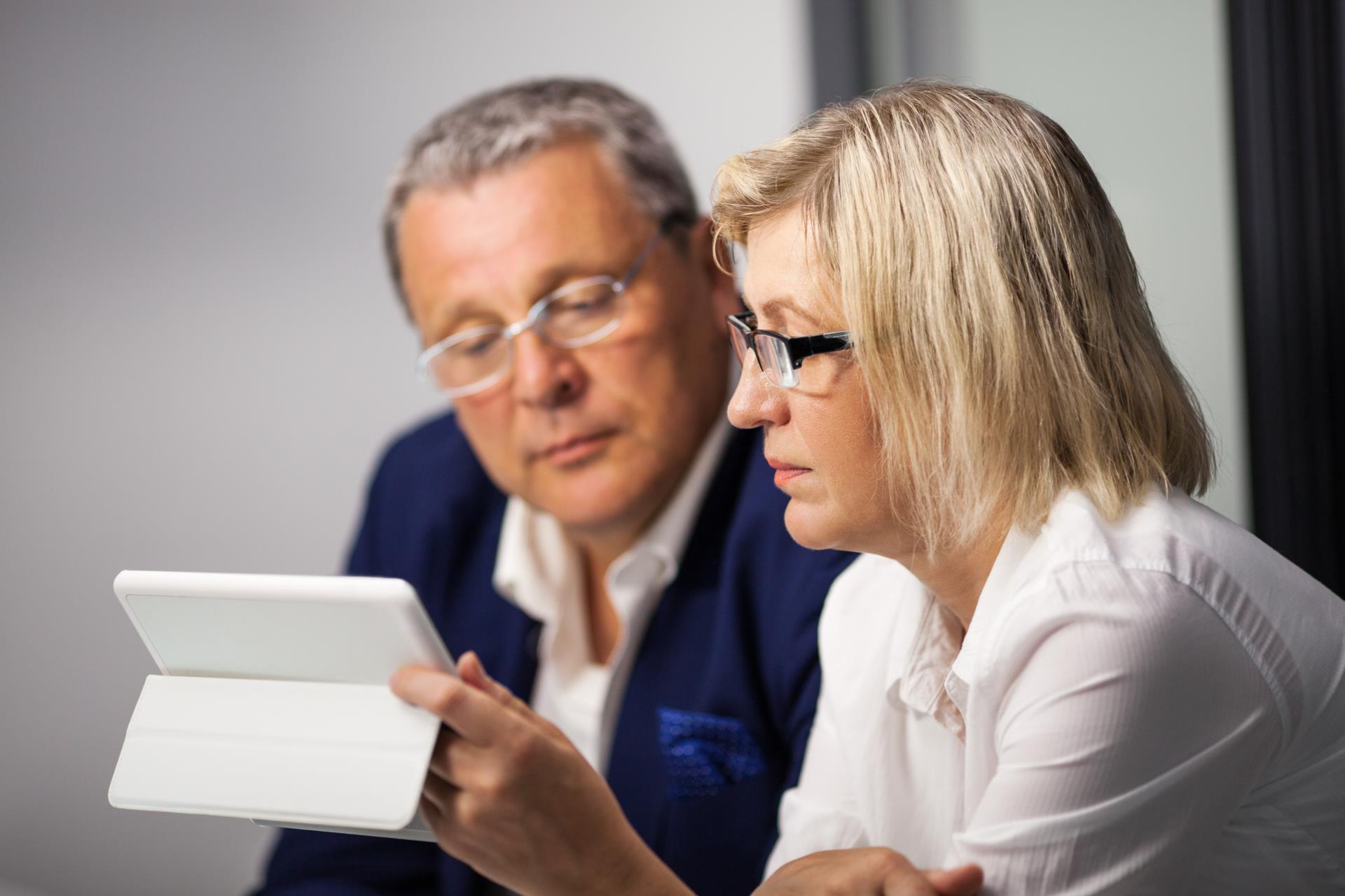 Adults with tablet